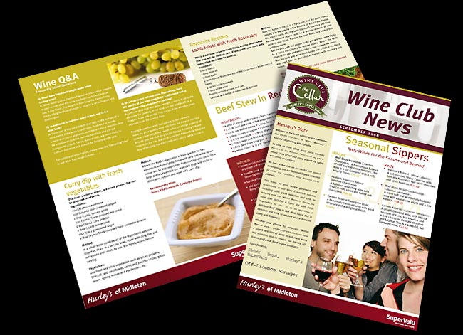 Zebedee SuperValu Wine Club Newsletter